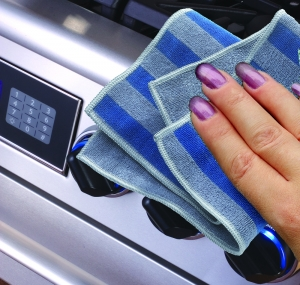 Set Doua Lavete Premium E-Cloth din Microfibra pentru Cuptor, Plita, Aragaz, 32 x 32 cm4