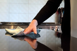 Laveta Premium E-Cloth din Microfibra pentru Curatarea Bucatariei, Compartiment Abraziv, 32 x 32 cm6