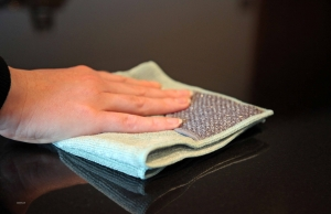 Laveta Premium E-Cloth din Microfibra pentru Curatarea Bucatariei, Compartiment Abraziv, 32 x 32 cm4