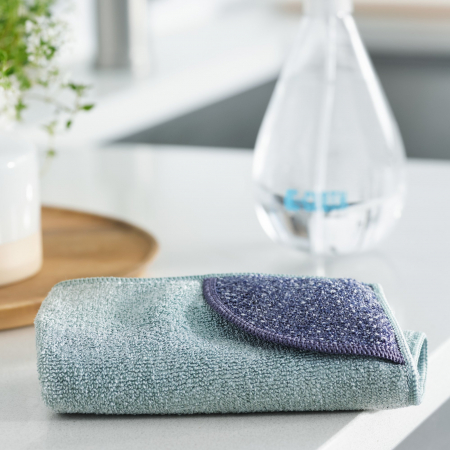 Laveta Premium E-Cloth din Microfibra pentru Curatarea Bucatariei, Compartiment Abraziv, 32 x 32 cm [1]