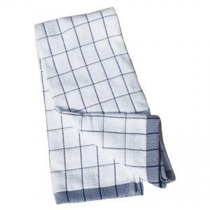 Prosop Premium E-Cloth de Bucatarie pentru Pahare, Farfurii de Portelan, Tacamuri, 60 x 40 cm, Alb/Albastru3