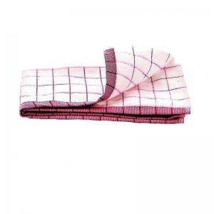 Prosop Premium E-Cloth de Bucatarie pentru Pahare, Farfurii de Portelan, Tacamuri, 60 x 40 cm, Alb/Rosu2
