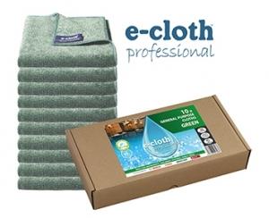 Set 10 x Laveta Premium E-Cloth Universala din Microfibra, Bucatarie, Baie, Geamuri, Praf, 32 x 32 cm, Verde0