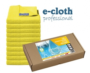 Set 10 x Laveta Premium E-Cloth Universala din Microfibra, Bucatarie, Baie, Geamuri, Praf, 32 x 32 cm, Galben0