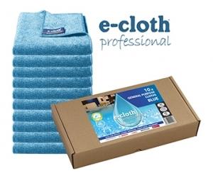 Set 10 x Laveta Premium E-Cloth Universala din Microfibra, Bucatarie, Baie, Geamuri, Praf, 32 x 32  cm, Albastru0