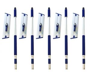 Set 5 x Mop Profesional Premium E-Cloth, Maner + Baza, Telescopic 1-1.5 m, Pardoseli, Hotel, Restaurant, Pub1