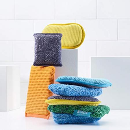 Set Doi Bureti Premium E-Cloth din Microfibra pentru Bucatarie si Baie, Cada, Chiuveta [5]