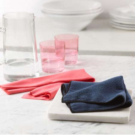 Set Doua Lavete Premium E-Cloth din Microfibra pentru Curatarea Suprafetelor si Blaturilor din Granit, 32 x 32 cm [2]