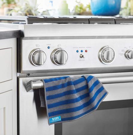 Set Două Lavete Premium E-Cloth din Microfibră pentru Cuptor, Plită, Aragaz, 32 x 32 cm [2]