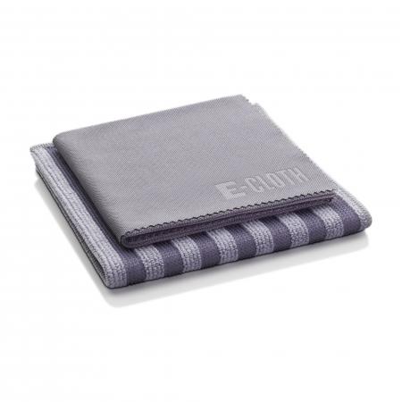 Set Doua Lavete Premium E-Cloth din Microfibra pentru Curatarea si Lustruirea Obiectelor din Inox, 32  x 32  cm [2]