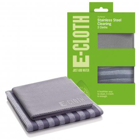 Set Doua Lavete Premium E-Cloth din Microfibra pentru Curatarea si Lustruirea Obiectelor din Inox, 32  x 32  cm [0]