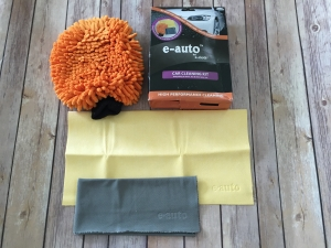 Set Premium E-Cloth din Microfibra pentru Spalat, Uscat si Lustruit Masina, 17 x 26 cm6