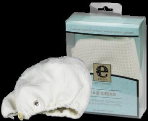 Turban Premium E-Cloth din Microfibra pentru Par, 50 x 26 cm [0]