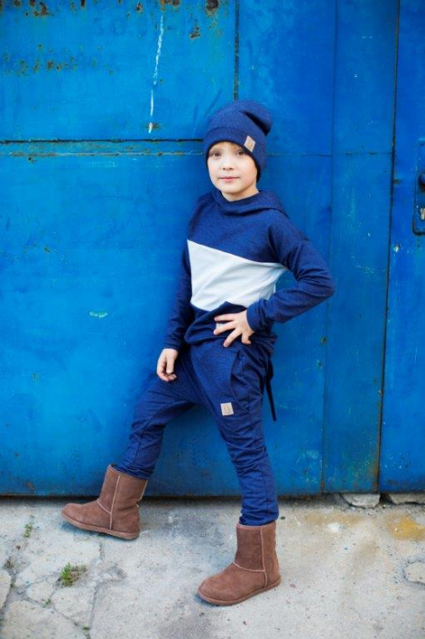 Pantalon lung_Albastru 2