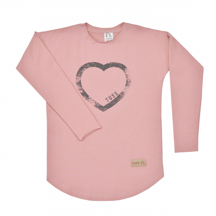 Bluza cu maneca lunga, fete, Roz/Inima, Seven Heaven [0]