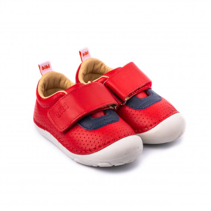 Pantofi, piele, baieti, Rosu/Albastru, Grow 0