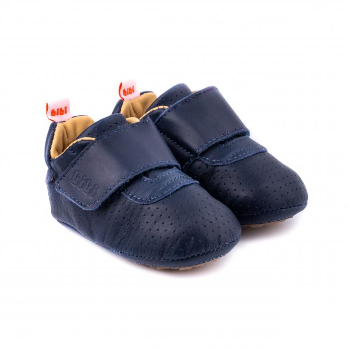 Pantofi bebe, piele, Albastru, Afeto 0