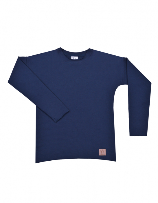 Bluza maneca lunga, bleumarin [0]