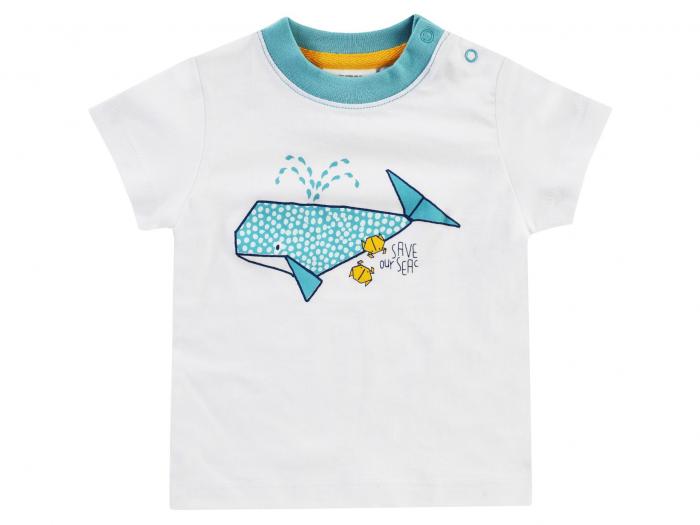 Tricou cu maneca scurta_Alb/Albastru_Save Our Seas 0