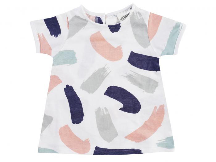 Tricou vara_Alb cu pete colorate_Dresses 0