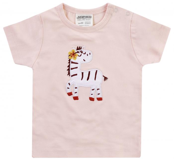 Tricou cu maneca scurta, fete, Roz/Zebra, Jungle Girl [0]