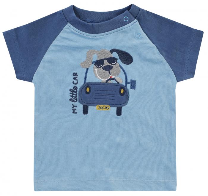 Tricou cu maneca scurta, baieti, Albastru, Happy Car Friends [0]