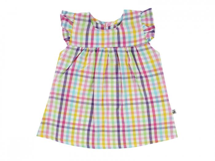 Bluza tip camasa, bumbac 100%_fete_colorata_Tropicana 0