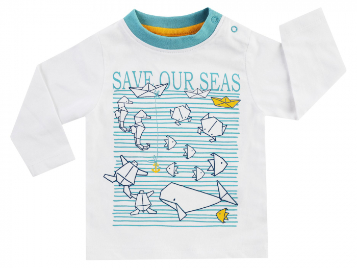 Bluza cu maneca lunga_Alb cu desen_Save Our Seas 0