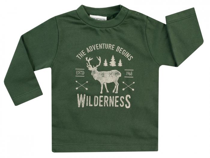 Bluza cu maneca lunga, bumbac 100%, baieti, Verde, Lumberjack 0