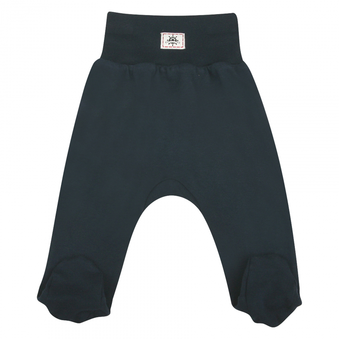 Pantaloni pijama cu talpa 100% bumbac organic_Ziar 0