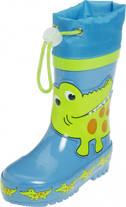 Cizme cauciuc, baieti, crocodil, Albastru, Verde 0