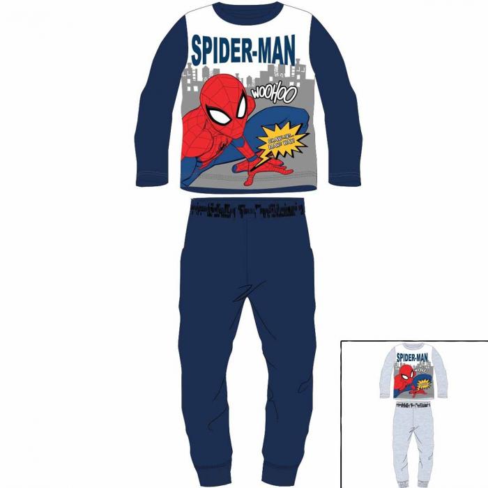 Pijama cu maneca lunga, doua piese, bumbac 100%, baieti, Spiderman 0