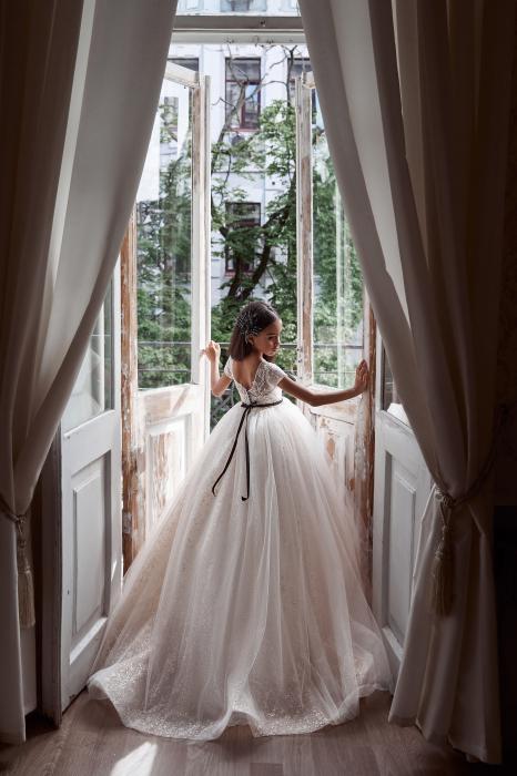 Rochie eleganta lunga, Dantela, Ivory [2]
