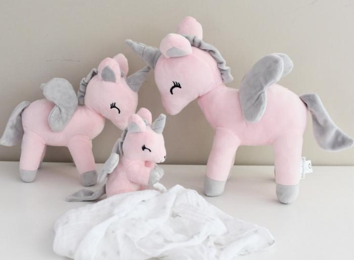 Unicorn de plus, marime L, Roz/Gri [1]