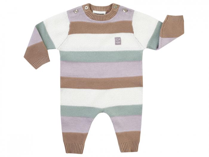 Salopeta intreaga, tricotata, bumbac 100%, unisex, Dungi/Woodland 0