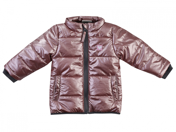 Jacheta iarna fara gluga, fete, Gri metalic, Outdoor 0