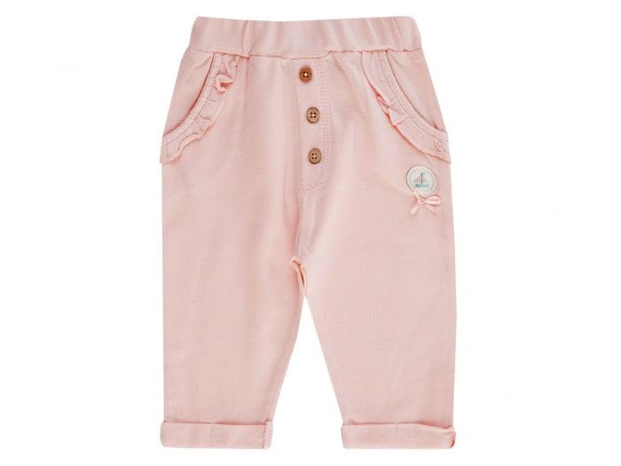 Pantalon lung, bumbac 100%, Peach, Coucou Ma Petit 0