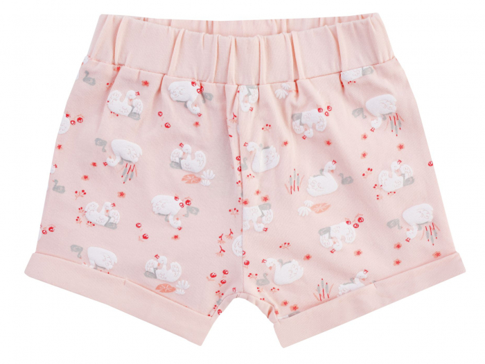 Pantalon scurt, Peach cu lebede, Enchanted 0