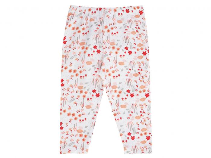 """Pantalon """"leggings""""_Alb cu flori_Enchanted 0"""