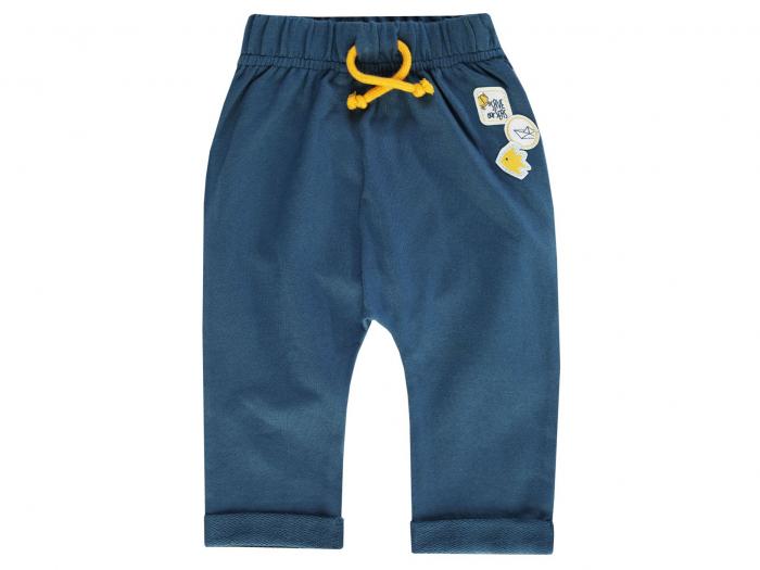 Pantalon lung trening, bumbac 100%_Albastru_Save Our Seas 0