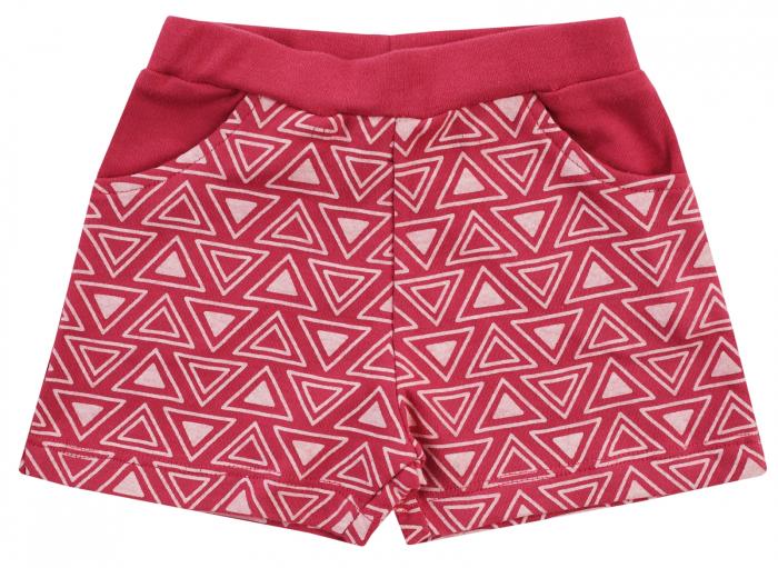 Pantalon scurt cu buzunare, bumbac 100%, fete, Marsala, Jungle Girl [0]