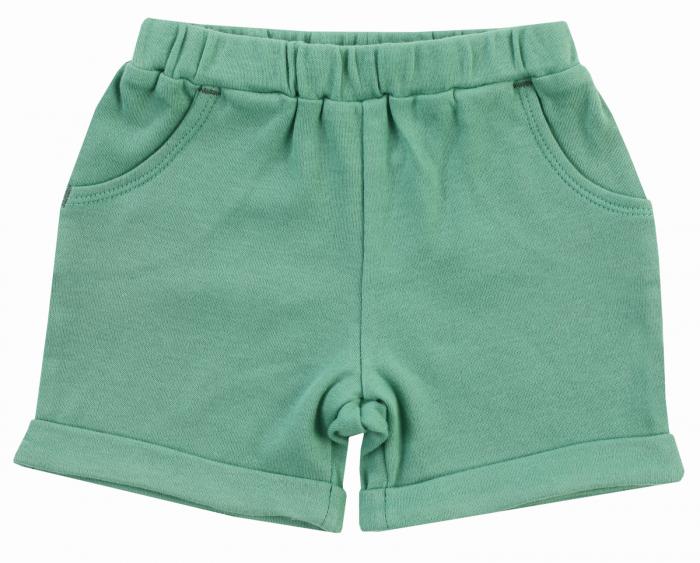 Pantalon scurt cu buzunare, bumbac 100%, baieti, Verde, Leopardy [0]