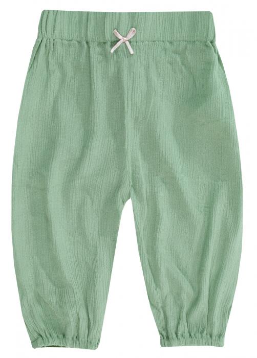 Pantalon lung, subtire, fete, Verde, Midsummer [0]