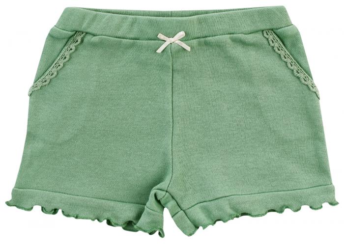 Pantalon scurt cu buzunare, bumbac 100%, Verde, Midsummer [0]