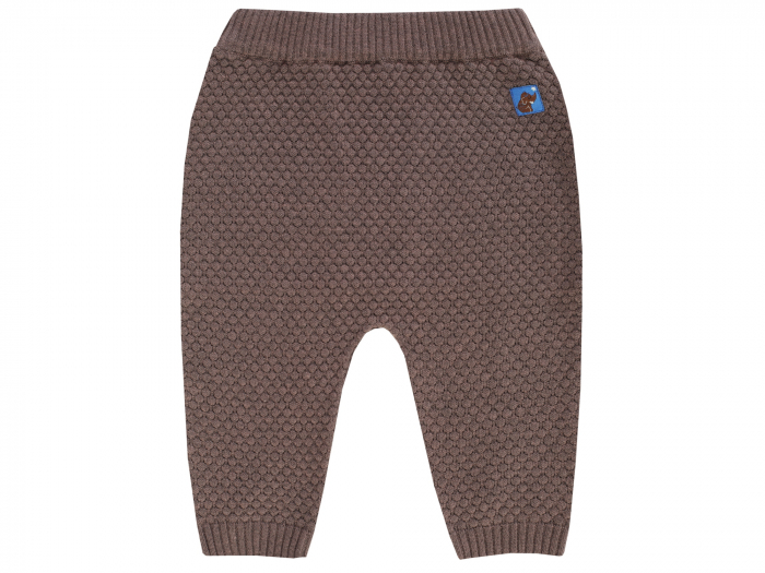Pantalon lung, tricotat, bumbac 100%, Maro [0]