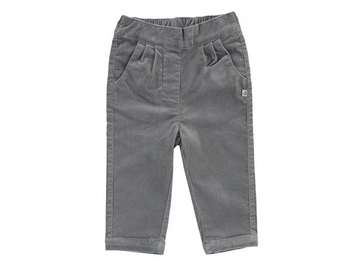 Pantalon lung, catifea, Gri, Classic [0]