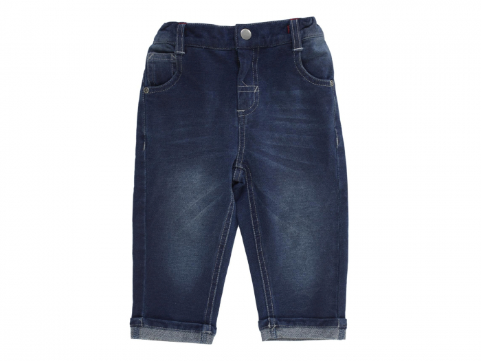 Pantalon lung, denim, albastru_Basic 0