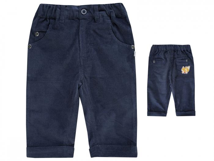 Pantalon lung, baieti, velur, Navy, Mountain Adv 0
