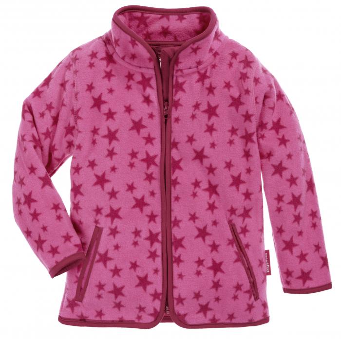 Hanorac din fleece, fete, Roz cu stele 0