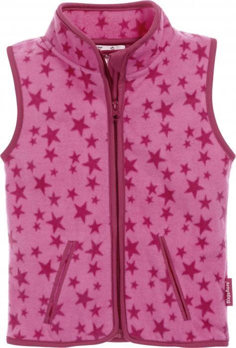 Vesta fleece, fete, Roz cu stele [0]